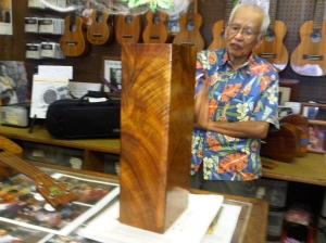 Fred Kamaka Sr. gives a free tour at the Kamaka 'ukulele factory in Honolulu.