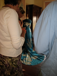 One of Anna's holoku gowns.